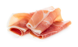 Sliced of jamon Stock Photography
