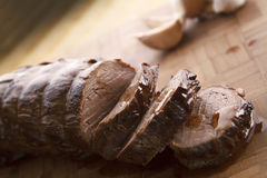 Sliced Juicy Beef TeNderloin stock images
