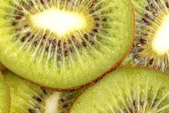 Sliced juicy kiwi fruit. View from above royalty free stock photos