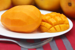 Sliced Juicy Mango Stock Photo