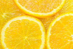 Sliced juicy oranges close up Stock Photos