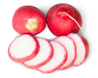 Sliced Juicy Radishes Stock Photo
