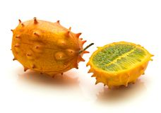 Kiwano melano isolated Royalty Free Stock Image