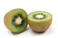 Sliced kiwi. Half of kiwi on white background stock photography