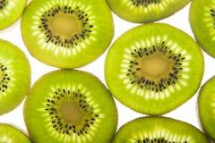 Sliced Kiwi. On a white background Royalty Free Stock Photo