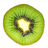 Sliced Kiwi. Sliced section of Kiwi with white isolated background royalty free stock photography