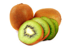 Sliced Kiwi. Sliced section of Kiwi with white isolated background stock photography