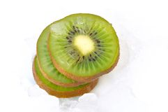 Sliced kiwi Stock Images