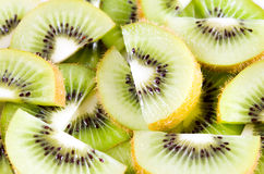 Sliced  kiwi background Stock Photo