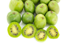 Sliced kiwi berries and some other Royalty Free Stock Images