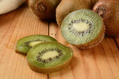 Sliced kiwi Stock Photos