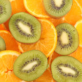 Sliced Kiwi fruit Stock Photos