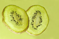 Sliced kiwi fruit Stock Image