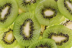 Sliced Kiwi Fruit (Actinidia deliciosa) Stock Image