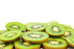 Sliced Kiwi Fruit. Close-up of Kiwi fruit cut into slices Royalty Free Stock Photos