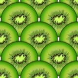 Sliced kiwi fruit. Design seamless colorful patter Stock Photography