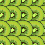 Sliced kiwi fruit. Design seamless pattern Royalty Free Stock Photo