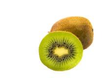 Sliced kiwi fruit half isolated on white Stock Photography