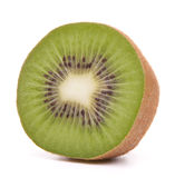 Sliced kiwi fruit half Stock Photos