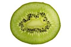 A sliced kiwi fruit, isolated on white Stock Photos