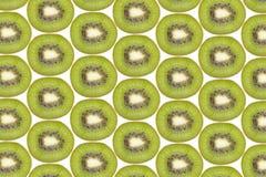Sliced kiwi fruit isolated on white background Royalty Free Stock Images
