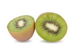 Sliced kiwi fruit isolated on white background Stock Photos
