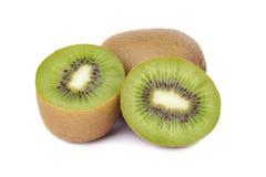Sliced kiwi fruit isolated on white background Royalty Free Stock Photography