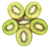 Sliced kiwi fruit isolated Royalty Free Stock Images