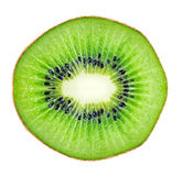 Sliced kiwi fruit macro. Sliced  juicy kiwi fruit macro over white. Huge size image Royalty Free Stock Photography