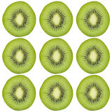 Sliced kiwi fruit pattern background royalty free stock image