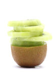 Sliced Kiwi Fruit piece Royalty Free Stock Photos