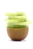 Sliced Kiwi Fruit piece Royalty Free Stock Photos