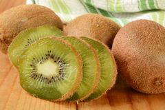 Sliced kiwi Stock Image