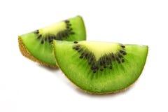 Sliced  kiwi  fruit segment  isolated on white background Stock Photography
