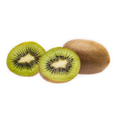 Sliced kiwi fruit Stock Images