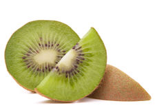 Sliced kiwi fruit segment Stock Images
