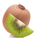 Sliced kiwi fruit segment Stock Image