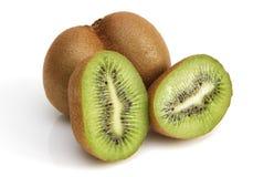 Sliced kiwi fruit on white background. Stock Images