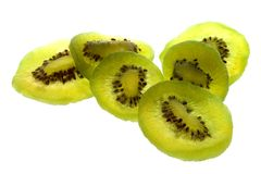 Sliced kiwi fruits Stock Images