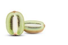 Sliced kiwi fruits with soft shadow on white background Stock Photo