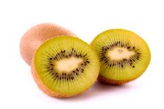 Sliced kiwi isolated Stock Photos
