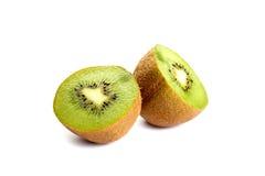 Sliced kiwi isolated on white Royalty Free Stock Photos