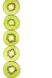 Sliced kiwi  with a place for text Stock Photos