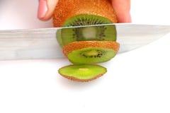 Sliced kiwi on wheels Stock Photo