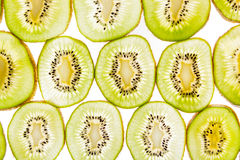 Sliced kiwi  on a white Stock Image