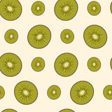 Sliced kiwifruit royalty free illustration