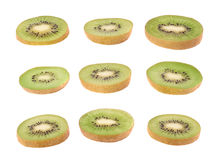 Sliced kiwifruit section isolated Royalty Free Stock Photography