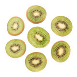 Sliced kiwifruit section isolated Royalty Free Stock Photo