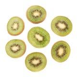 Sliced kiwifruit section isolated Royalty Free Stock Photo