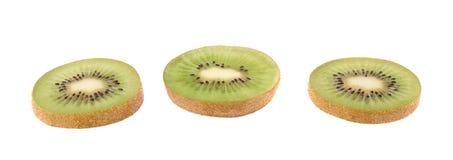 Sliced kiwifruit section isolated Stock Image